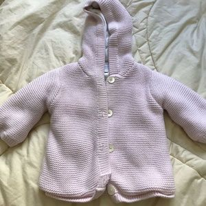 Jacadi Knitted Hooded Sweater Baby 3 Months